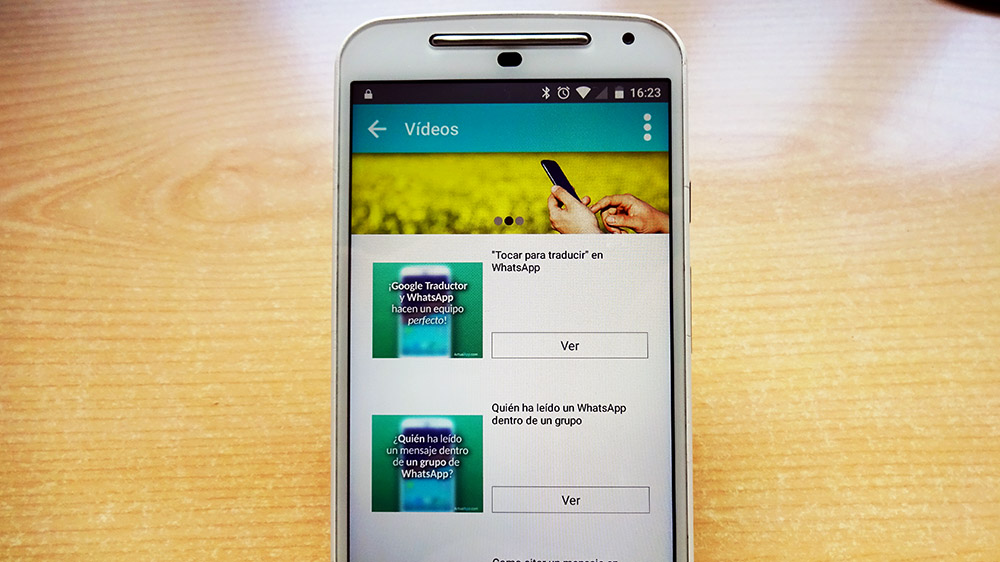 """Sección """"Vídeos"""" de la aplicación de ActualApp creada con 480interactive."""