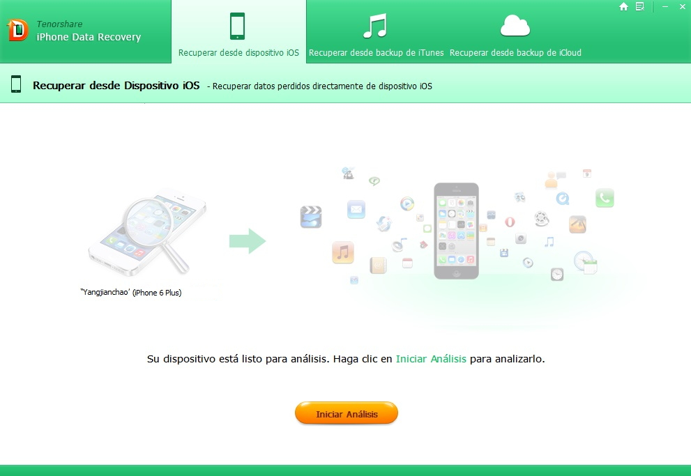 Tenoshare iPhone Data Recovery start-scan