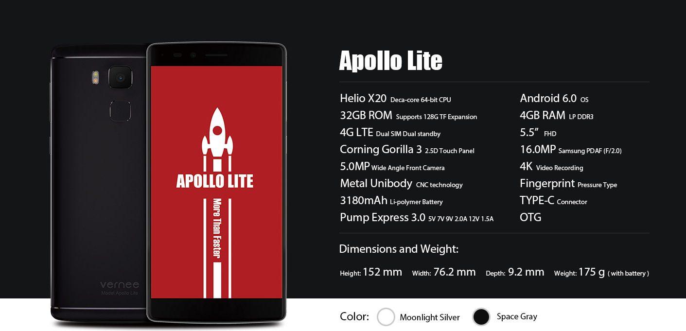 Vernee Apollo Lite especificaciones