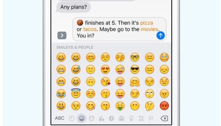 ios 10 teclado sustituir emoji