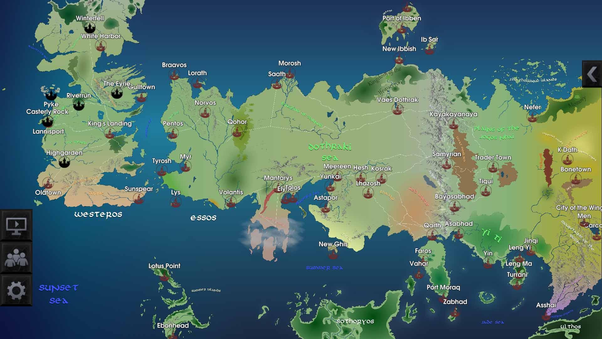 mapa juego de tronos app
