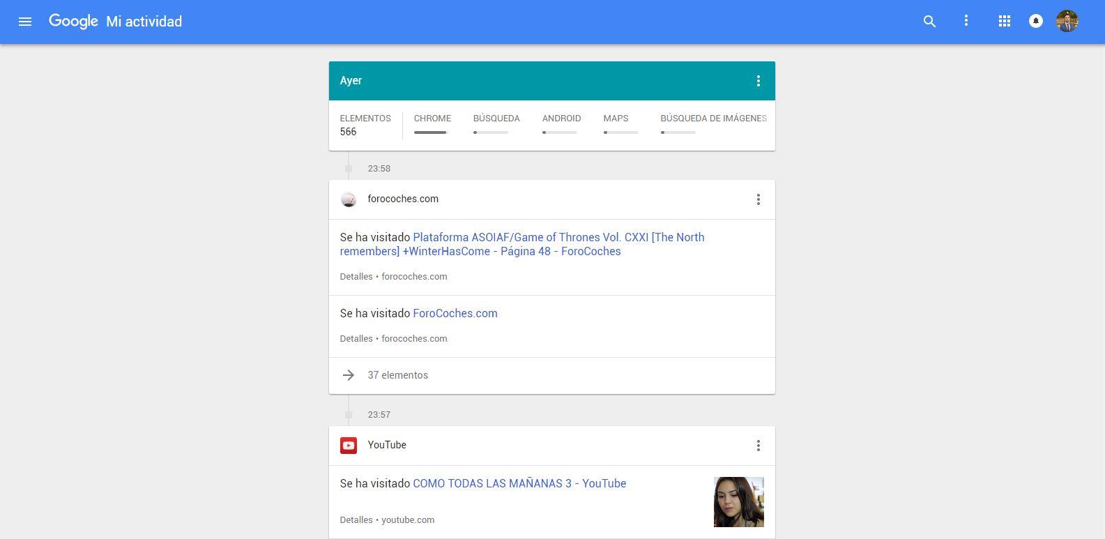 mi actividad google 1