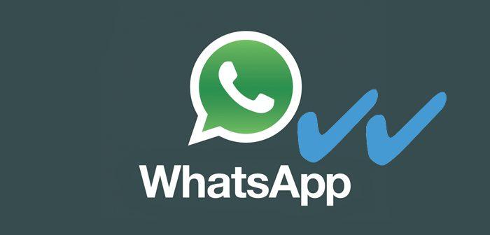 doble tic azul de Whatsapp