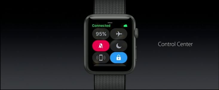 watchos 3 control center