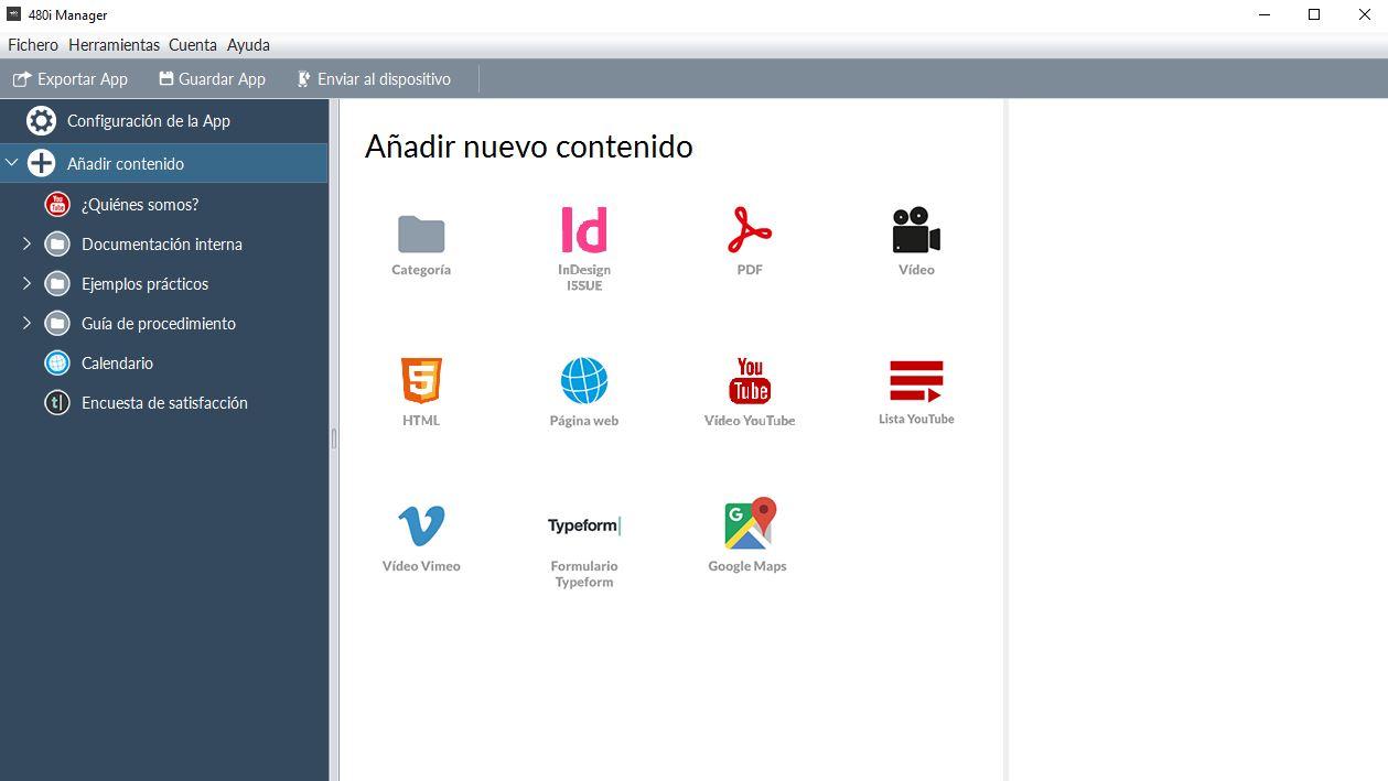 480 interactive manager crear contenido