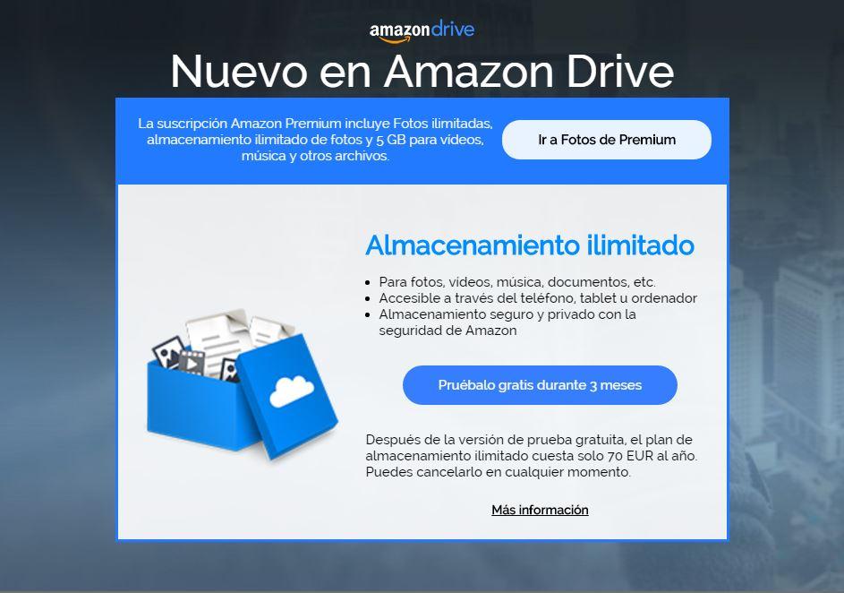 amazon drive plan nuevo