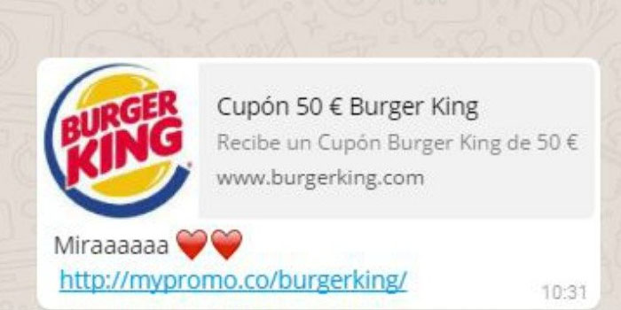 estafa de Burger King
