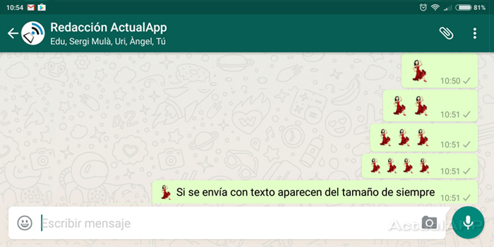 Descargar Whatsapp 216258 Llegan Los Emoji Grandes