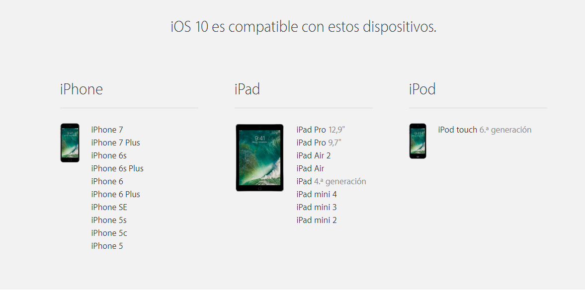 ios-10-dispositivos-compatibles