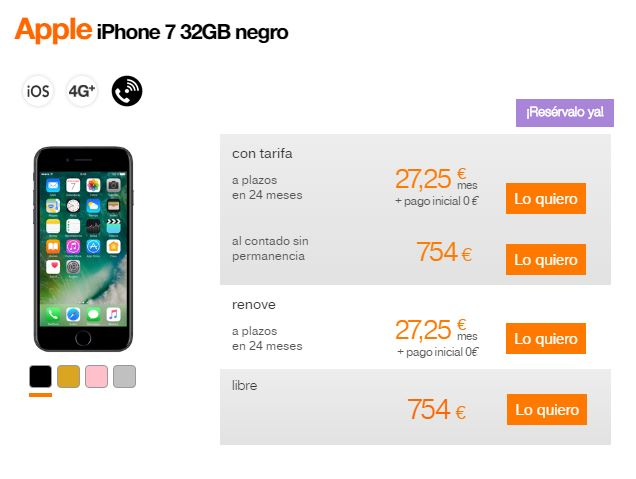 orange-iphone-7-precios