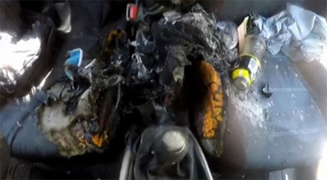 El coche donde se incendió el iPhone 7