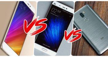 Xiaomi mi5s vs mi5s plus vs mi5