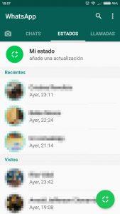 Privacidad de los Estados de WhatsApp