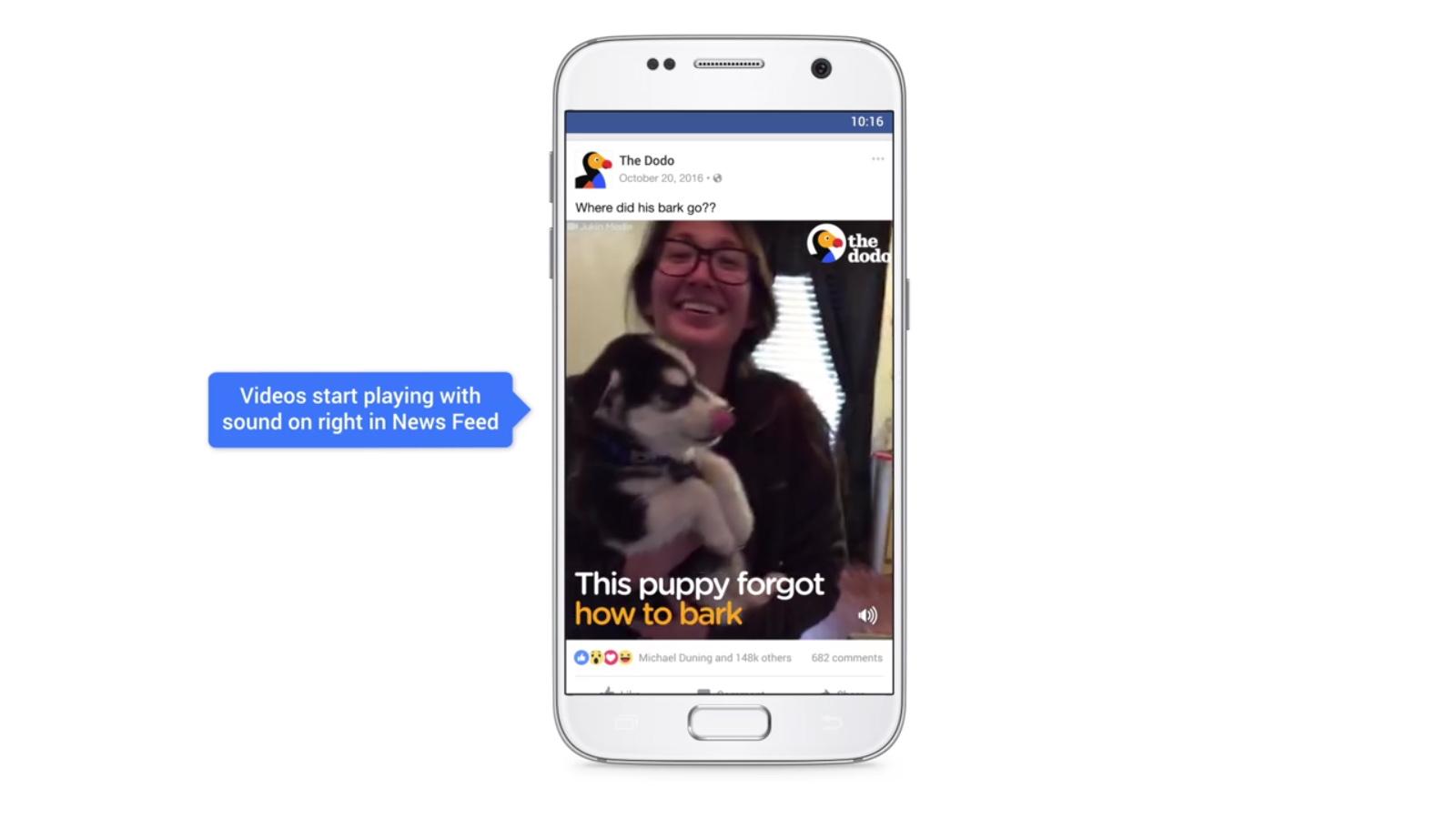 Desactivar el audio automático de los vídeos en Facebook