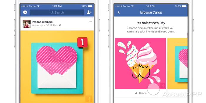 facebook en san valentin