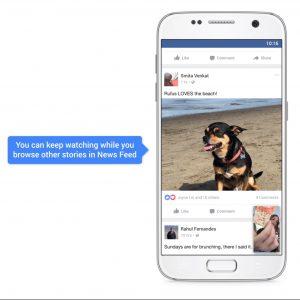 mejoras en la reproducción de vídeos en Facebook