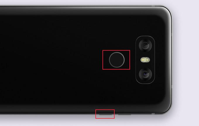 captura de pantalla en el LG G6