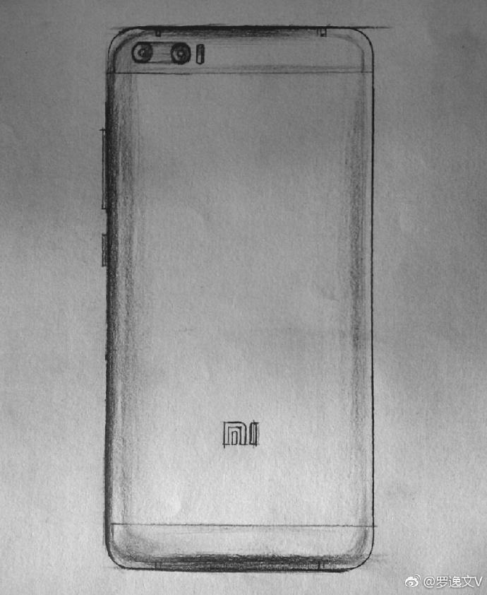 dibujos del xiaomi mi 6