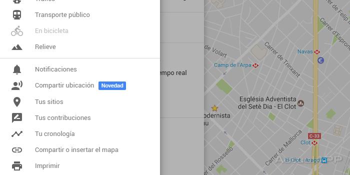 activar la ubicación en tiempo real de Google Maps