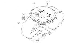 pantalla en el bisel del smartwatch