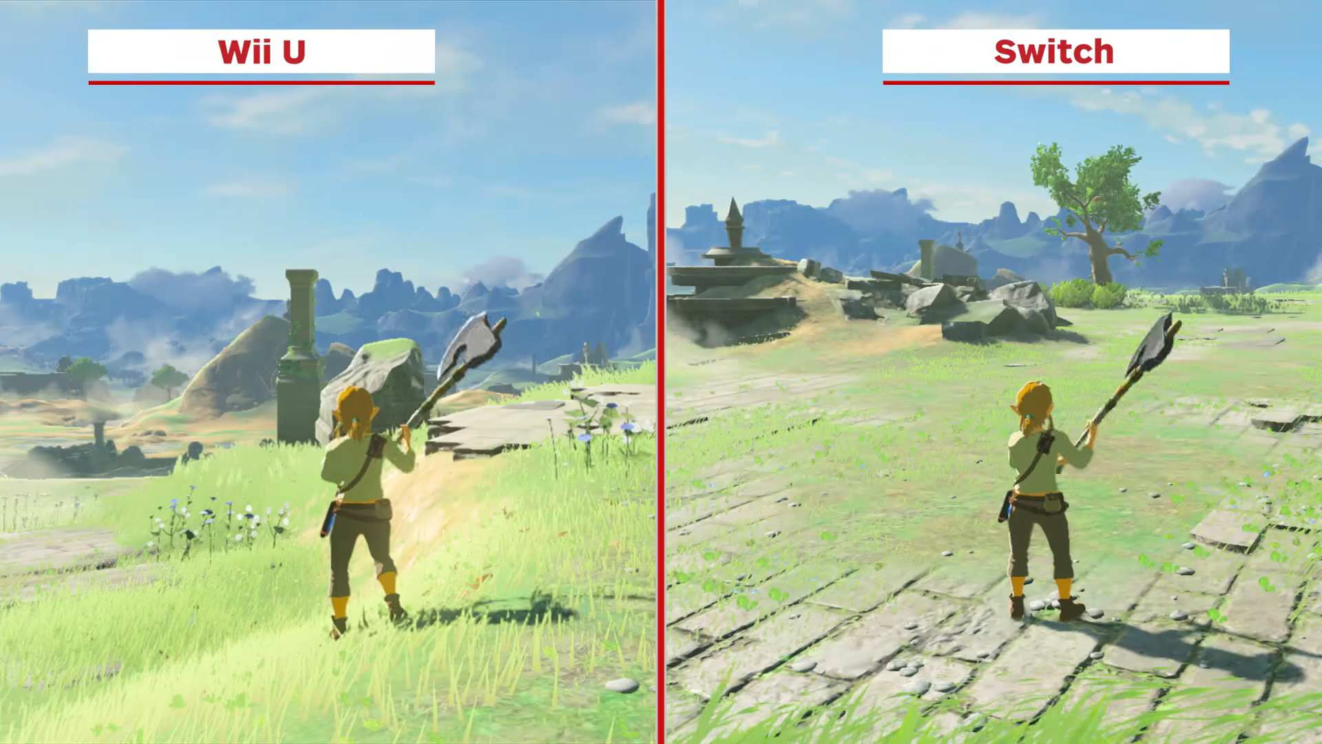 gráficos de zelda: breath of the wild