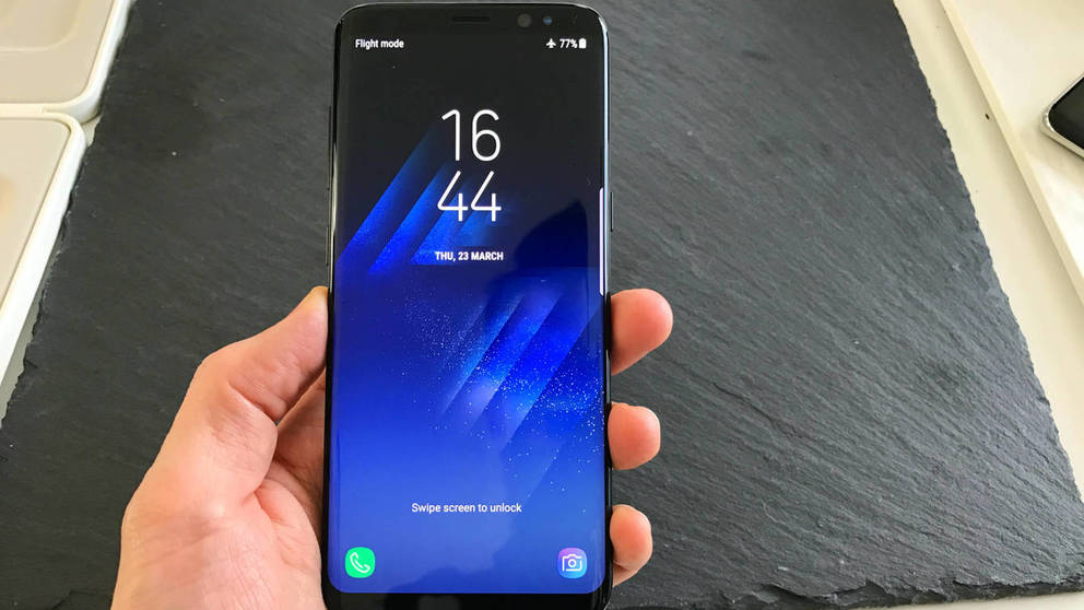 captura de pantalla en el galaxy s8