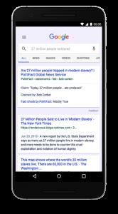 verificación de hechos en Google