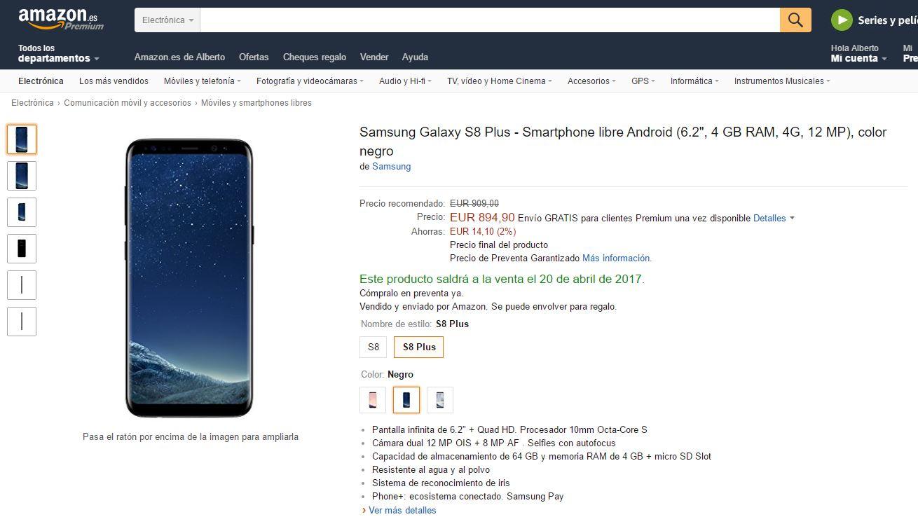 samsung galaxy s8 de oferta