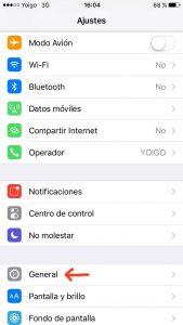 desactivar vibracion del iphone