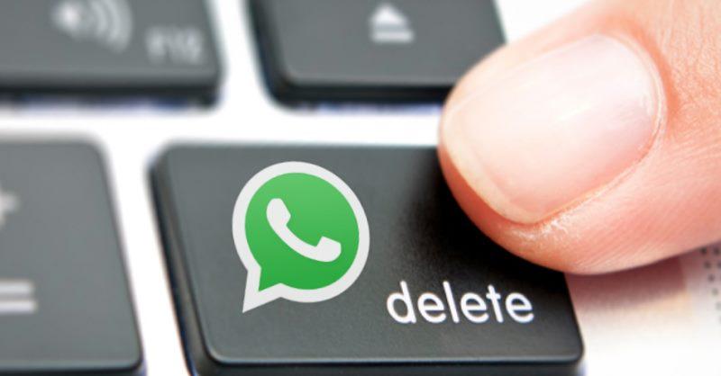 borrar un mensaje enviado por WhatsApp
