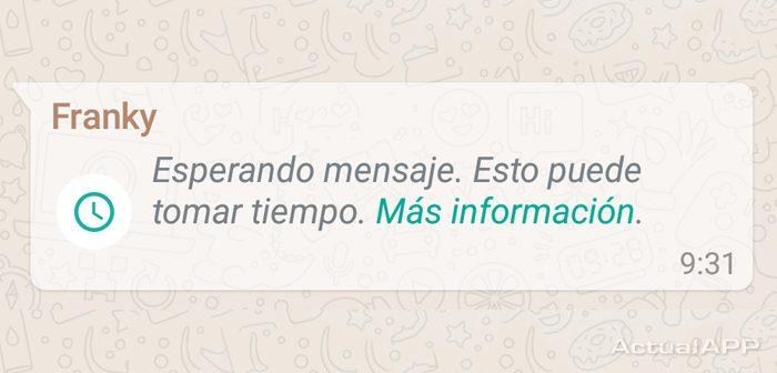 Esperando mensaje en WhatsApp
