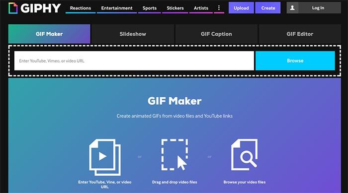 GIF desde el navegador del movil