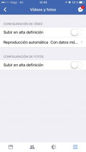 colgar fotos y videos hd en facebook ios 1