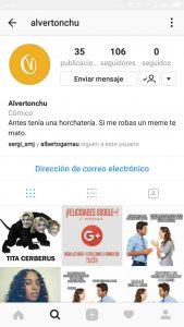 notificaciones de usuario de instagram