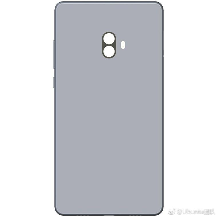 posible diseno del Xiaomi Mi mix 2