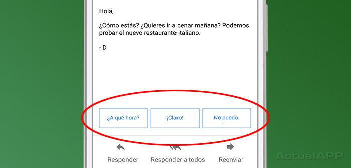 smart replies de gmail