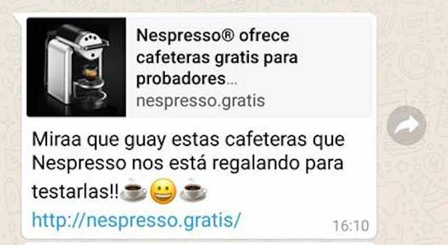 nespresso en whatsapp