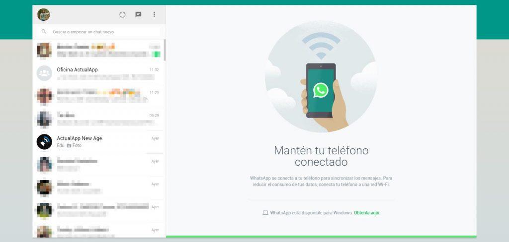 Estados en WhatsApp Web