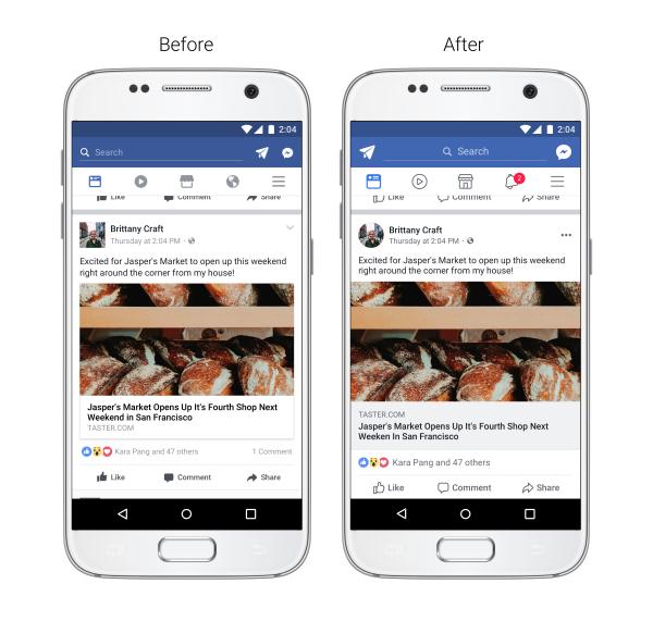 rediseño de Facebook