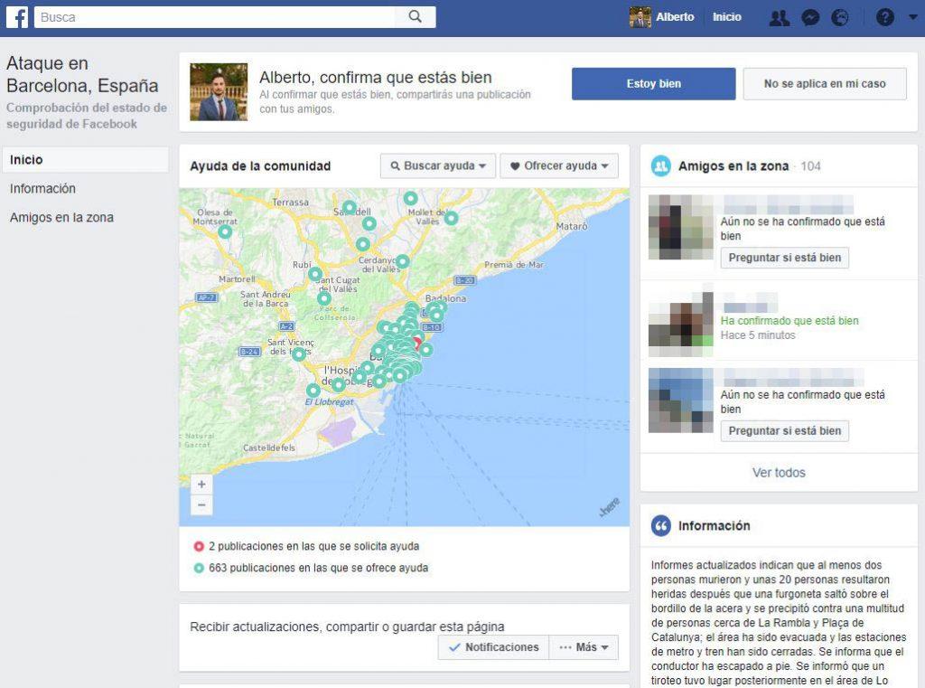facebook safety check atentado de barcelona