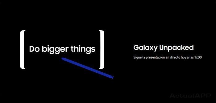 presentación del Samsung Galaxy Note 8