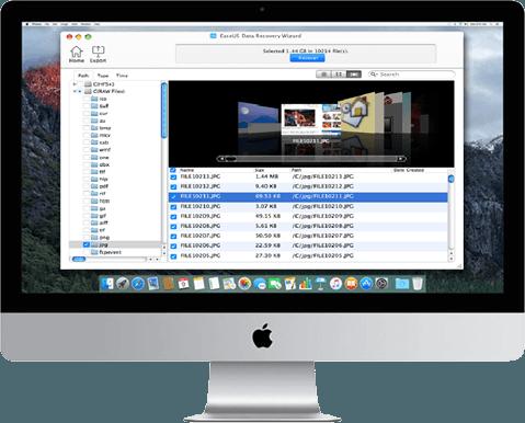 EaseUS Data Recovery - recuperar archivos eliminados en Mac