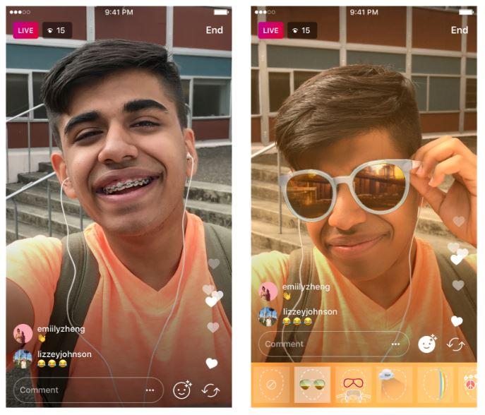 directos con filtros en Instagram Stories
