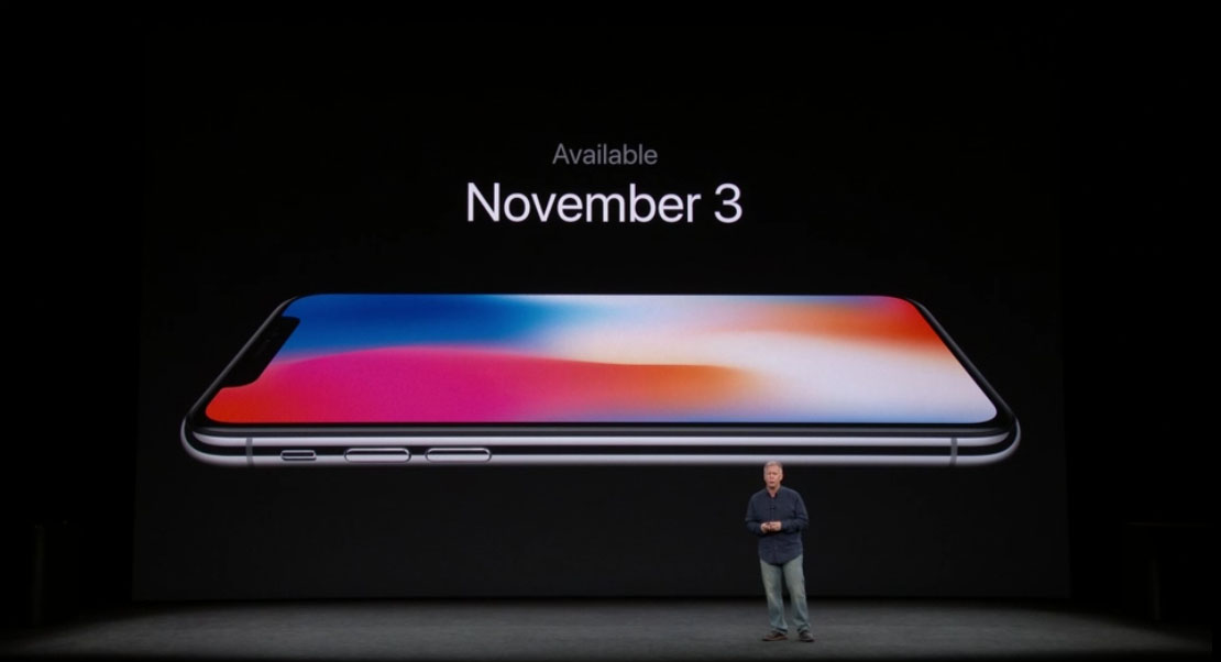 iPhone X en tienda