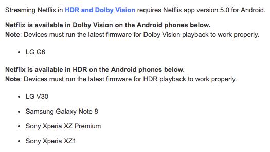 Netflix en HDR para el Samsung Galaxy Note 8