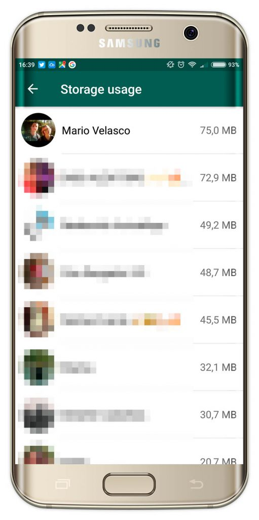liberar memoria en WhatsApp
