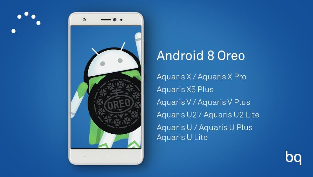 bq que actualizarán a android 8.0 oreo