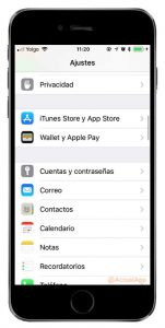 varias cuentas de email en iOS 11