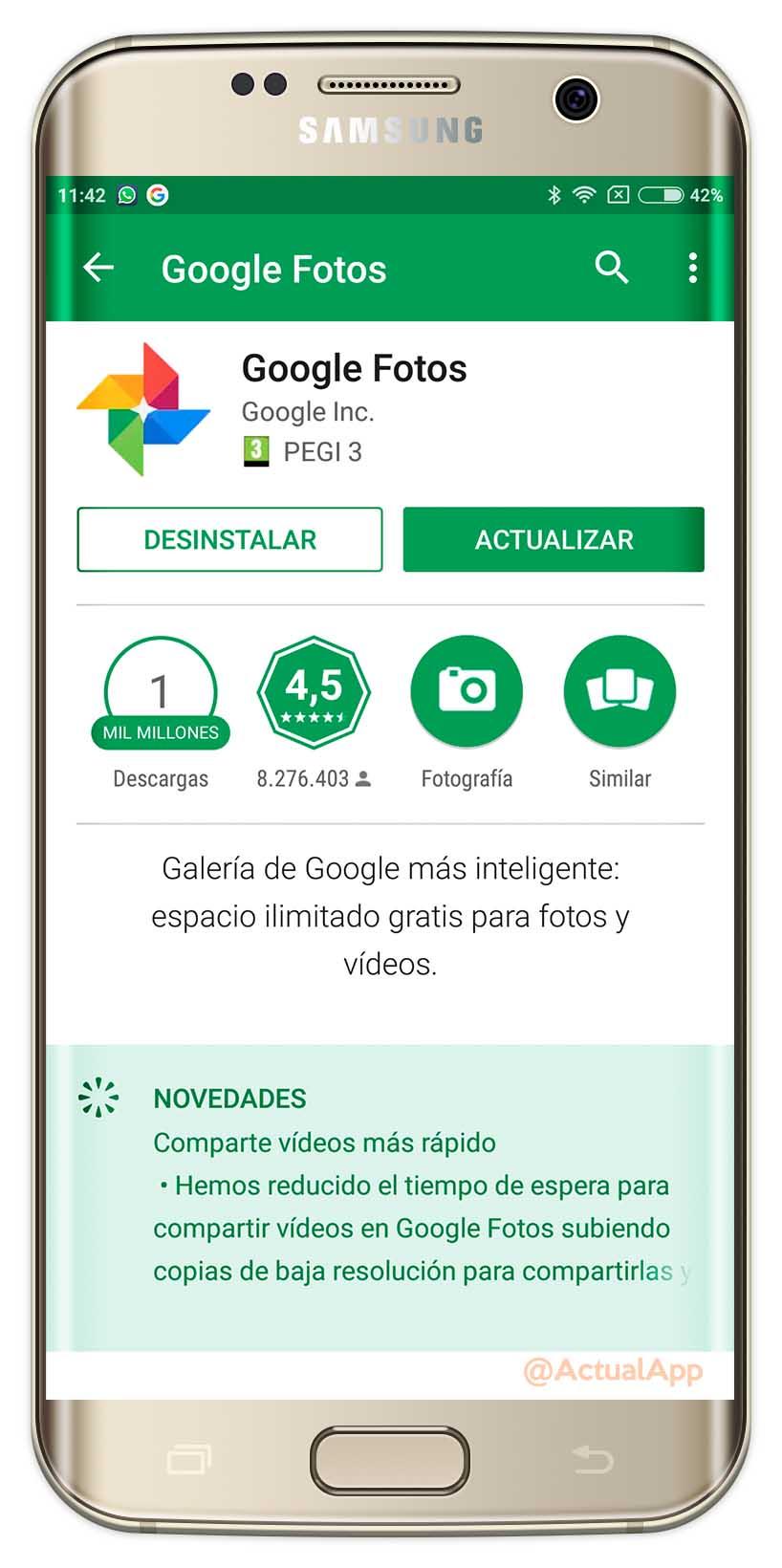 backup de vídeos en Google Fotos