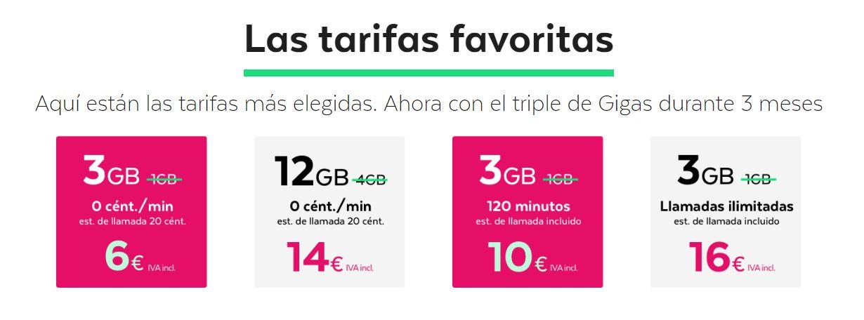 tarifas de móvil más económicas